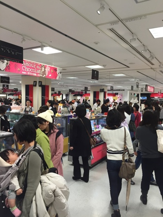 V-day at Takashimaya2
