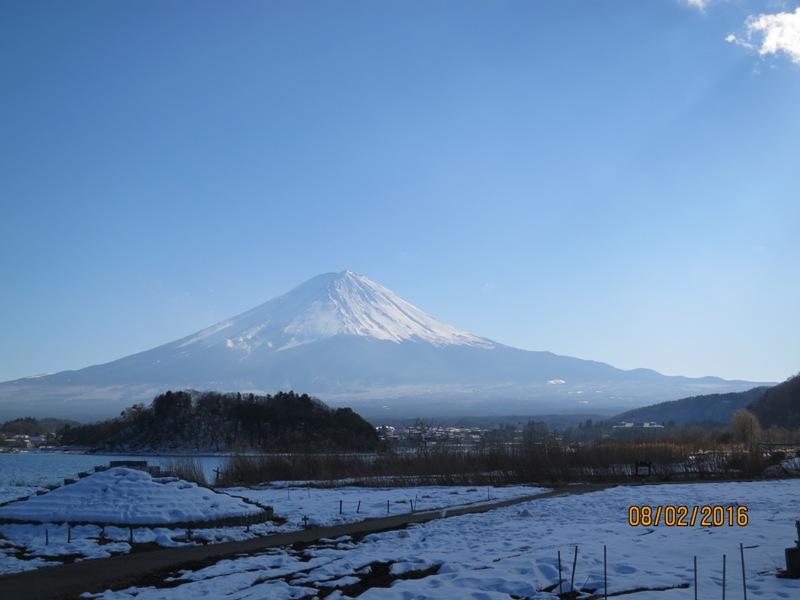 Lake Kawaguchi - living museum Fuji view 1