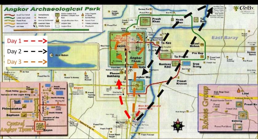 Angkor complex exploration