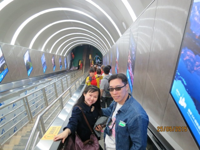 Escalator down Tianmen3