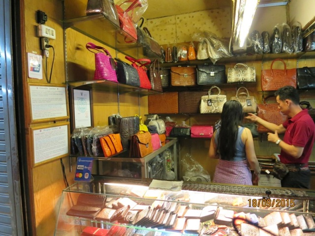 Night market Leather store1