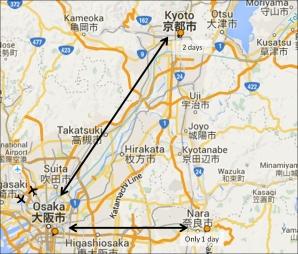 Osaka-Kyoto-Nara travel