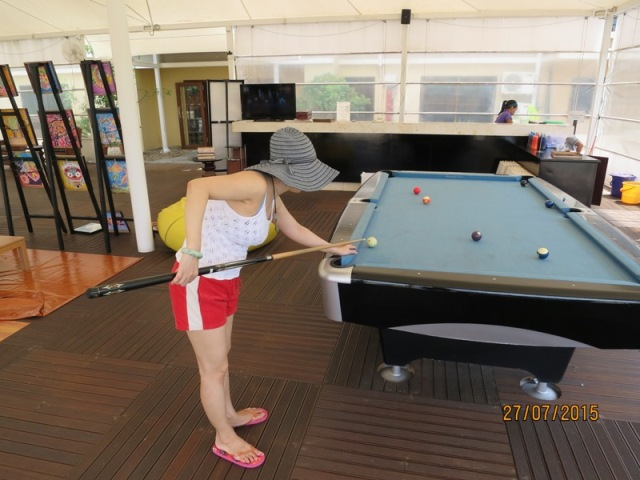 Playing Billard at Angsana1