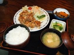 Ryokan dinner in Karuizawa1