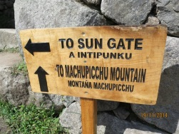 Signage to Sun gate