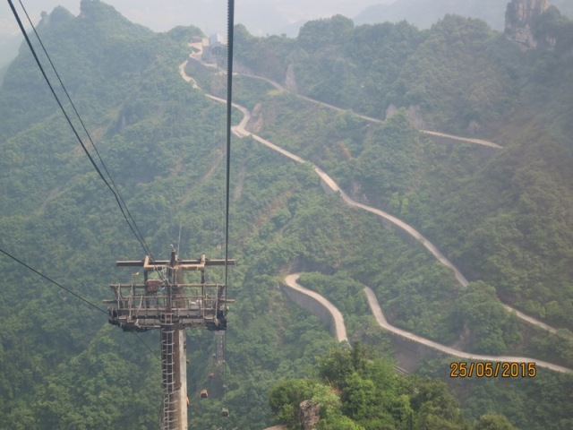 Tianmen Cable car ride up20
