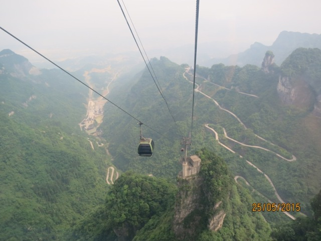 Tianmen Cable car ride up22