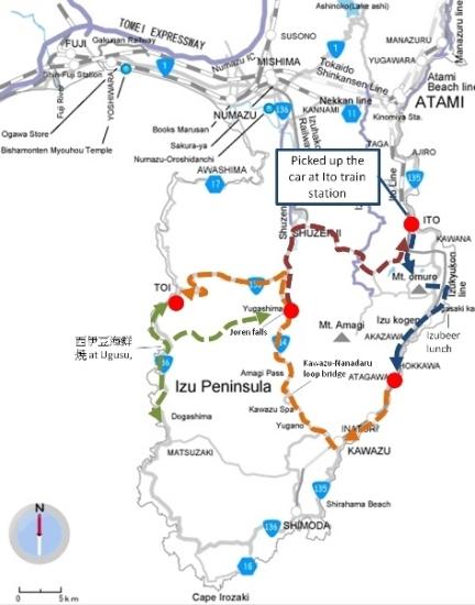 Izu drive map