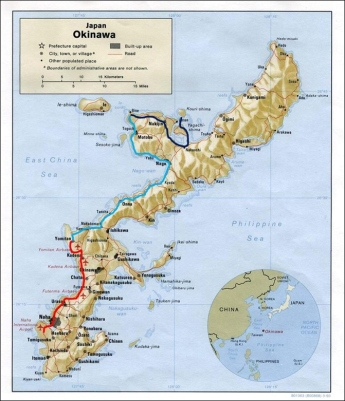 Okinawa road trip map