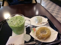 Green Tea Latte & donut2