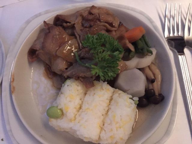 Inflight meal - Kurobota pork2