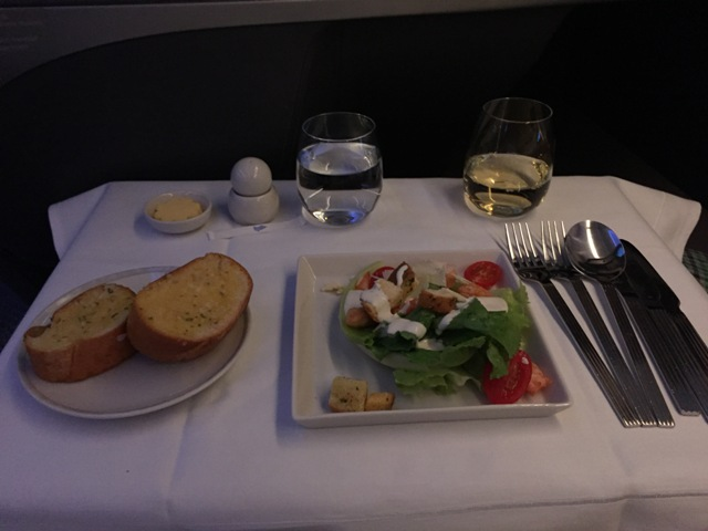 Inflight meal - salad
