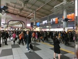 Shinagawa stn rush hour2