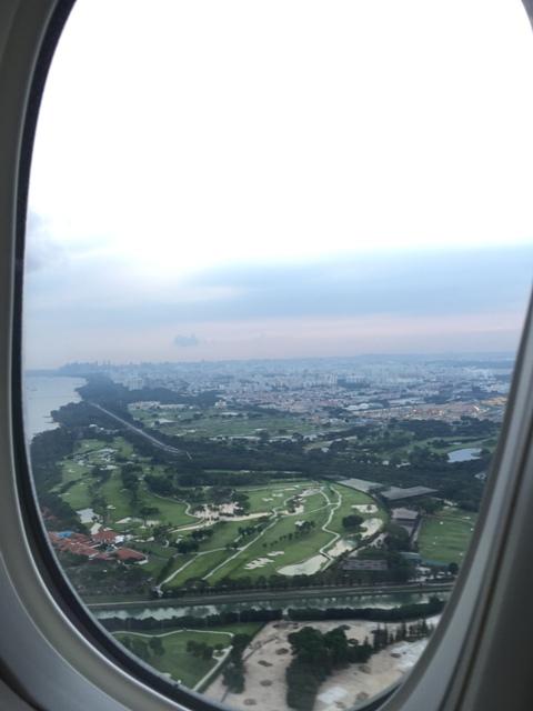 Taking off - dusk in SG3