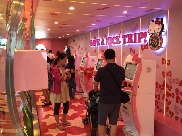 Hello Kitty check-in counter3