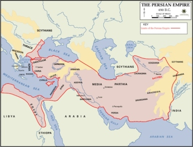 Greatest extent of Persian Empire