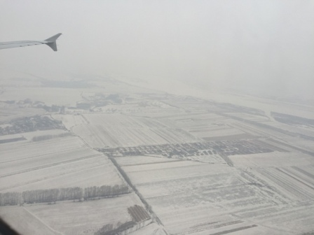 White out as we arrive Harbin