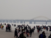 Frozen Songhua river