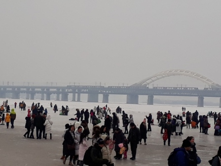 Frozen Songhua river