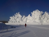 See how large the sculpture is!