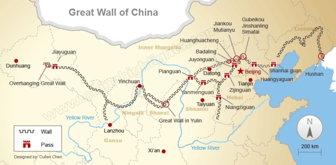Extent of the Great Wall