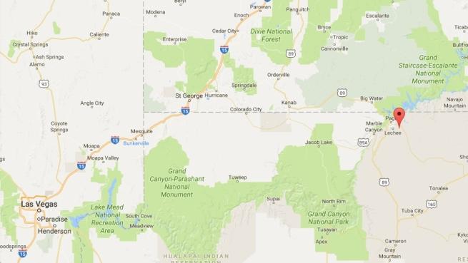 Antelope Canyon location
