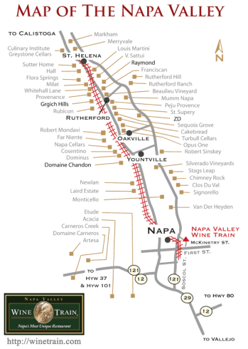 Napa Wine map