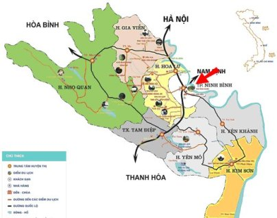 Ninh Binh resort map