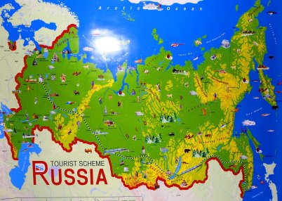 Russia Attractions Map