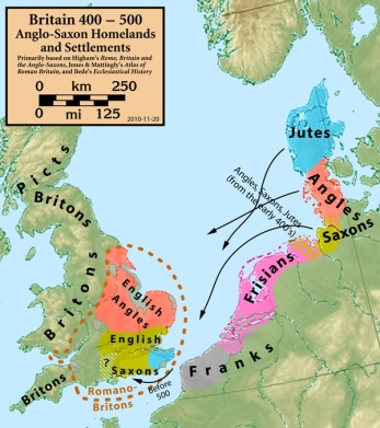 Saxon connection to English