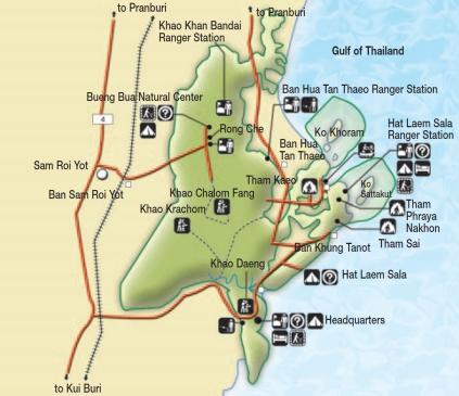 Khao Sam Roi Yot map
