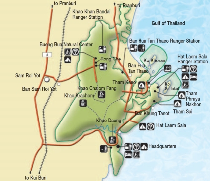 Khao Sam Roi Yot map