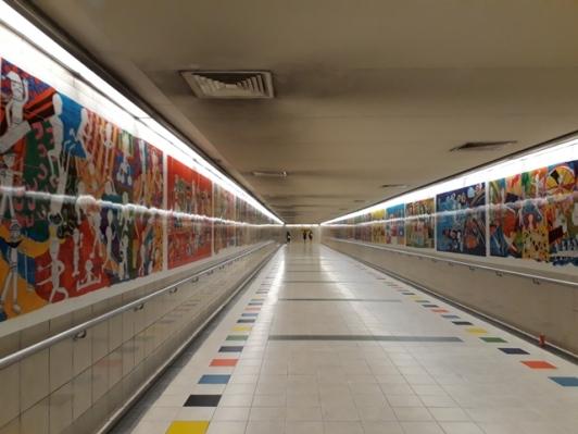 Walkway - A kaleidescope of color