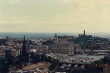 Edinburgh Castle Argyle battery view