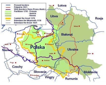 Historical Poland in map