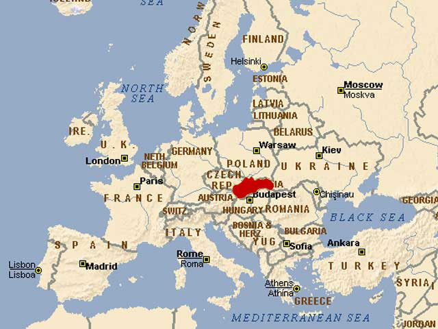 Slovakia map – Traveling Matters to us