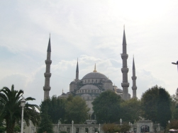 Walking to the Blue Mosque