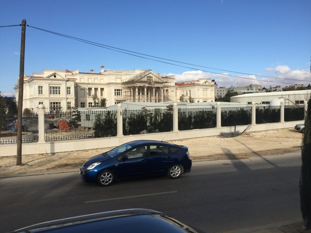 A new palace in construction