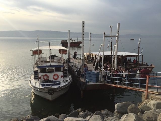 Boat on the sea of Galilee 2
