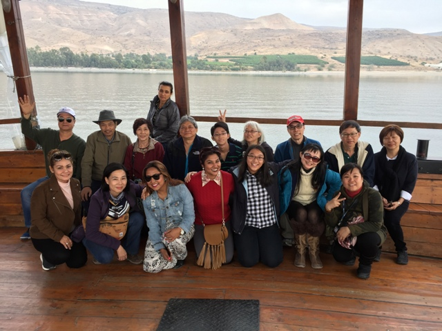 Boat on the sea of Galilee 41