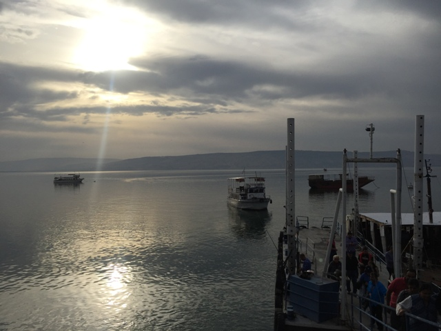 Boat on the sea of Galilee 5