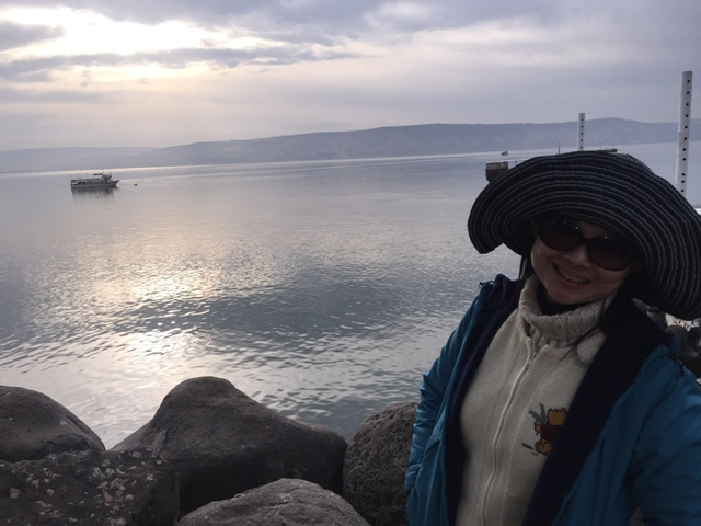 Boat on the sea of Galilee 7