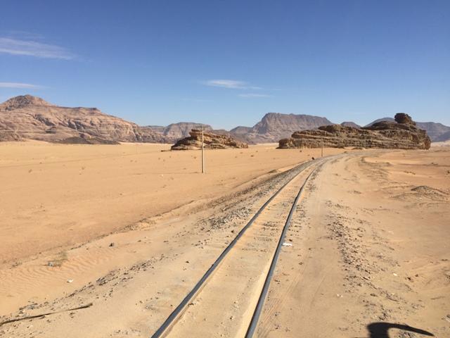 Driving to Wadi Rum 10