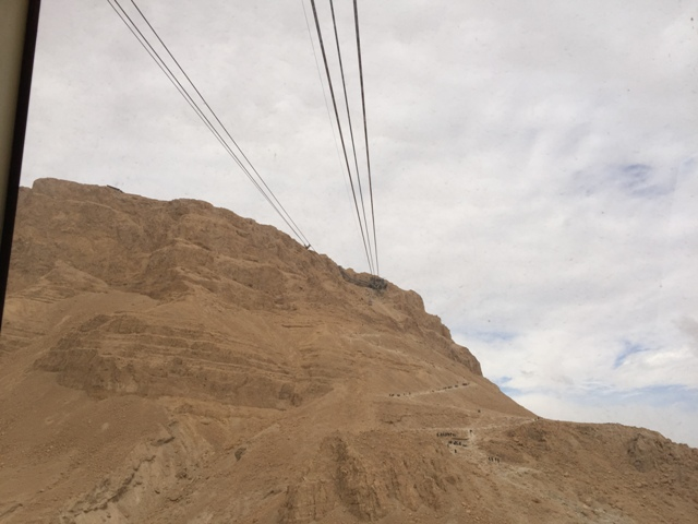 Masada cable ride up3