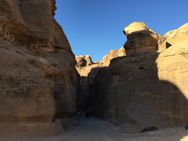 Walking through the Siq 2