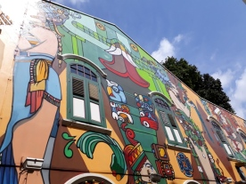 Haji Lane lage mural