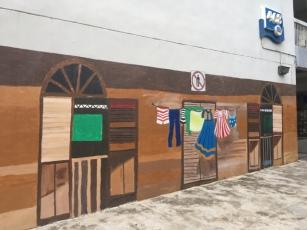 HDB murals of kampung life