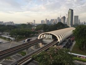 Kallang MRT aerial view