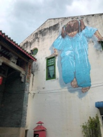 Mural art - Kungfu girl