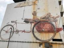 Mural art - Trishaw man